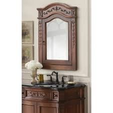 bathroom cabinets pretty bella carving brown vintage mirrored