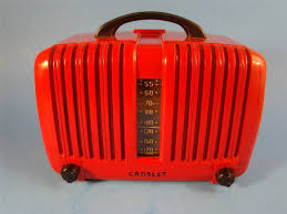 Crosley Radio Parts Vintage Art Deco Red Bakelite Super Crosley Tube Radio Works