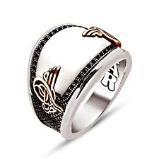 rings with stone images Curved white onyx stone sterling silver ring with zircons ottasilver jpg