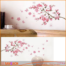 discount removable wall decor transparent 2017 removable wall sakura flower bedroom room pvc decal art diy home decor wall sticker removable stickers transparent poster wallpaper cheap removable wall decor transparent