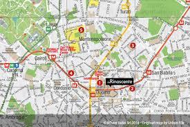 city map milan map