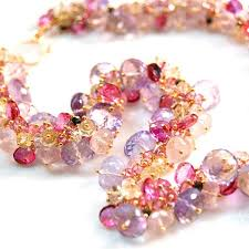 pink sapphire necklace images Pink sapphire tourmaline amethyst topaz and yellow sapphire jpg