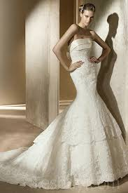 strapless lace mermaid cathedral train wedding dresses for sale