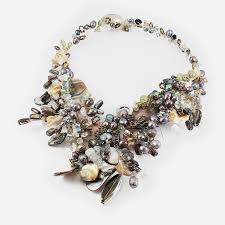 chunky pearl crystal necklace images Grayscale pearl and crystal necklace monochrome labyrinth at zemis jpg