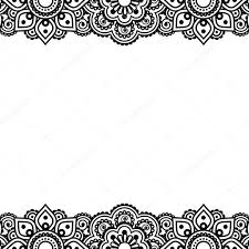 mehndi card mehndi indian henna tattoo design greetings card lace ornament