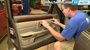 how to install replace front door panel cadillac deville 97 99