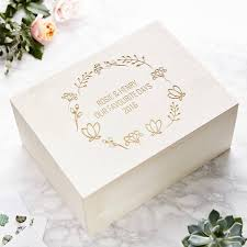 wedding keepsake box personalised floral wedding keepsake box
