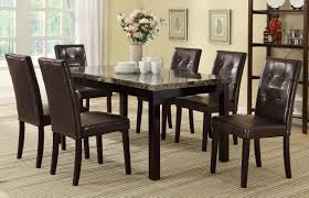 espresso dining room sets f1078 dark espresso dining chair set of 2 by poundex