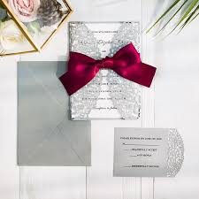wedding invitations burgundy burgundy and gray laser cut wedding invitations swws043 stylishwedd