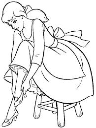 princess cinderella color pages printable princess cinderella