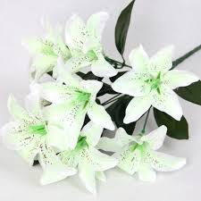 bouquet of lilies 10 heads wedding floral home decor flower real touch wedding