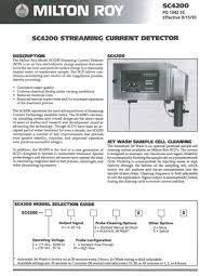 sc4200 streaming current detector milton roy pdf catalogue