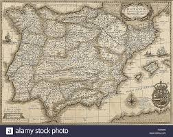 Portugal Spain Map by Antique Spain And Portugal Map In Sepia Tone Horizontal View