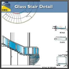 glass stair details in autocad dwg files u2013 cad design free cad