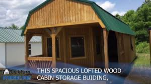Derksen Portable Finished Cabins At Enterprise Center Youtube 12x32 Wood Cabin Storage Building With Wood Trim Youtube