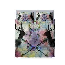 Dragonfly Bedding Queen Dream Catcher Bedding Duvet Cover Set Deer Abstract Floral