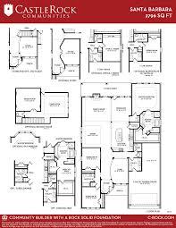 castle rock floor plans santa barbara gold home plan by castlerock communities in build on
