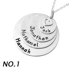 name necklaces cheap personalised layered stylish stack disc name necklace alloy