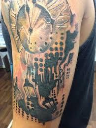 dot matrix watercolor tattoo inkfactorytattoo main st ga tattoos