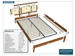 Bed Frame Plans Rockler I Semble Platform Bed Project Plan Modern