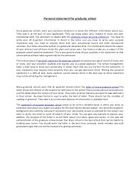writing a personal statement for graduate examples 100