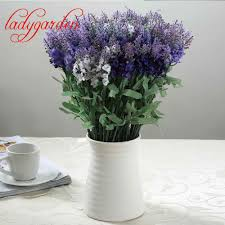 Decorative Flowers For Home by Compare Prices On Lavender Bouquet With Vase Online Shopping Buy