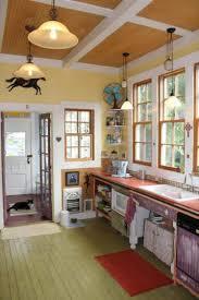 small rustic kitchen door design idea