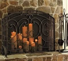 Decorative Fireplace by Decorative Fireplace Screens Wrought Iron Foter