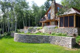 exterior design retaining wall to hold the soil in the landscape