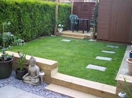 railway sleepers small garden design ideas small patio deck lawn