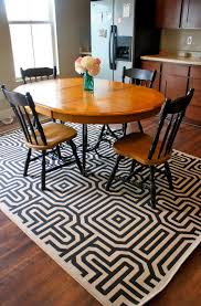 Kitchen Table Rug Ideas Rug Under Kitchen Table Or Not Home Design Ideas