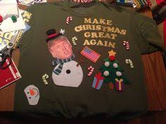 2016 donald trump make christmas great again funny ugly sweater