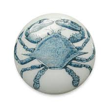 Beach Themed Cabinet Knobs by Blue Crab Cabinet Knobs Pull Nautical Sea Life Style Wood