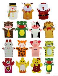 2018 children gift diy craft kit felt hand puppet for children diy