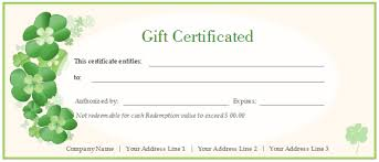 personalized gift certificate template free gift certificate