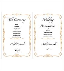 wedding agenda templates 9 wedding agenda templates free sle exle format