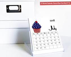 Desk Calendar With Stand Desk Calendar Etsy