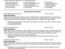 Supply Chain Management Resume Examples Packaging Engineer Resume Sample Free Resume