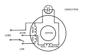 single phase two speed motor wiring diagram