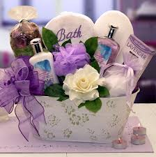 spa gift baskets elegance of lavender luxury spa gift basket at gift baskets etc