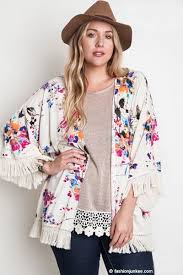 cardigan kimono plus size gorgeous vintage inspired bohemian floral watercolor