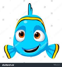 cute cartoon kid fish character isolated stock vector 406324768