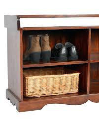 takhat hall bench with shoe storage 100 solid sheesham 7