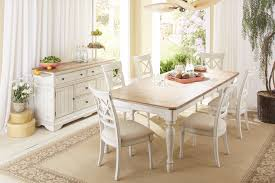 Cottage Rugs Rectangle Farmhouse Table In Two Tone By Cresent Fine Furniture