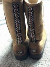 ugg australia noira chestnut sheepskin ugg australia leather pull on boots for us size 8 ebay
