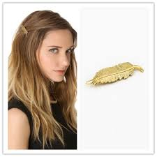 feather hair clip aliexpress buy gold feather hairpins for women peacock