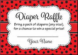 diaper raffle tickets printable download red black ladybug
