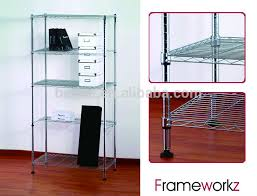 Diy Folding Chair Storage Diy Metal Wire Store Shelving Black Metal Wire Display Rack Diy
