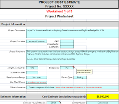 Estimate Template Excel Product Cost Estimate Template