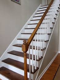 indoor interior solid wood stairs wooden staircase stair she ripped the carpet off her stairs and painted them i want to do